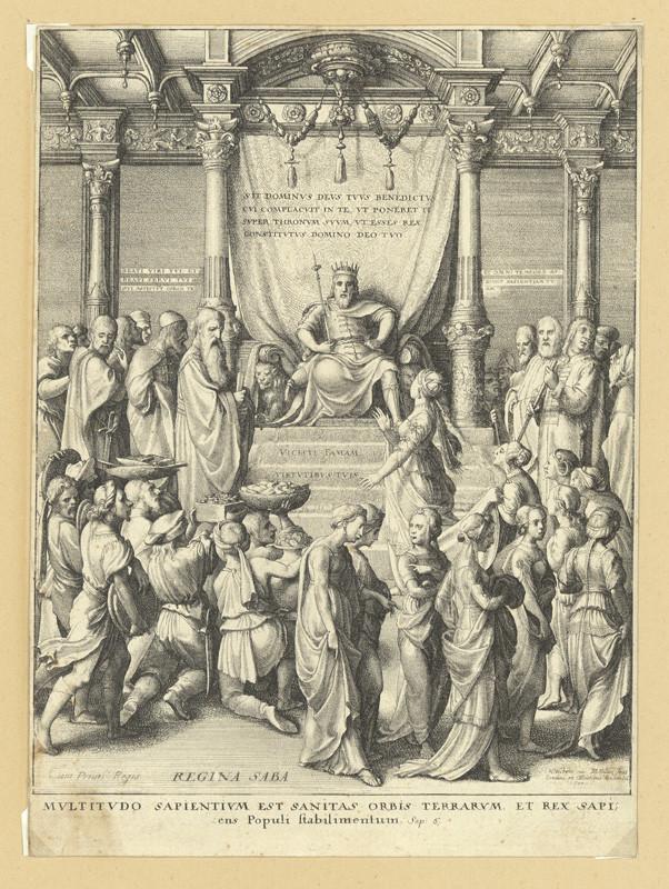 Václav Hollar - Šalamoun a královna ze Sáby, podle Hanse Holbeina, 1642