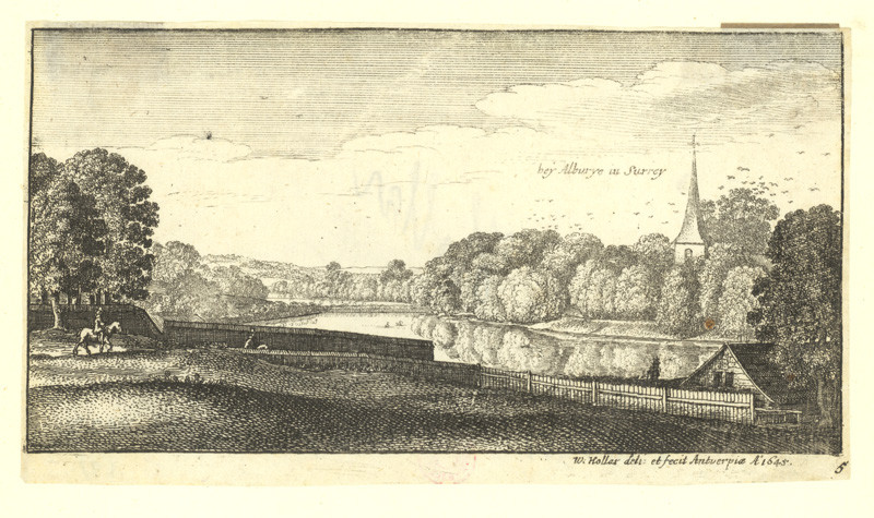 Václav Hollar - Bey Alburye in Surrey, 1645
