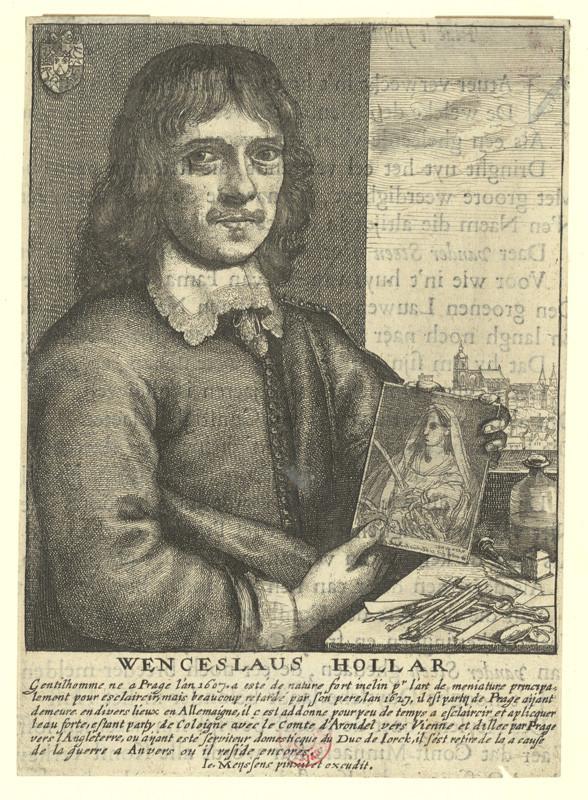 Václav Hollar – vlastní portrét, podle Joannese Meyssense, 1649