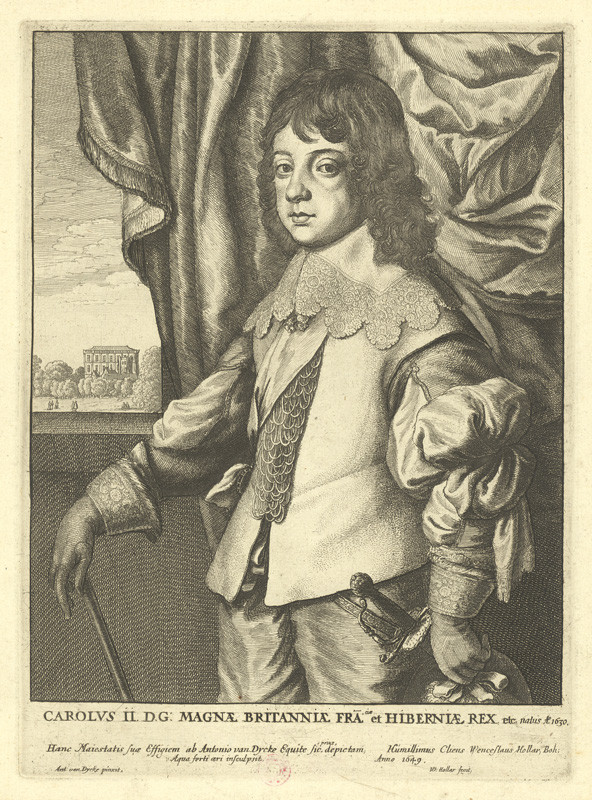 Václav Hollar - Karel II., podle Anthonise van Dycka, 1649