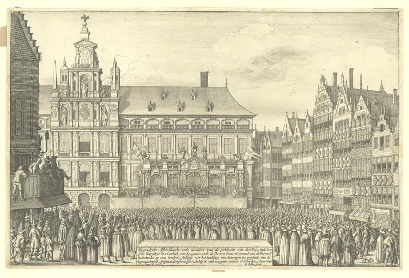 Václav Hollar - Vyhlášení münsterské dohody / Mír mezi Španělskem a Nizozemím, 1648